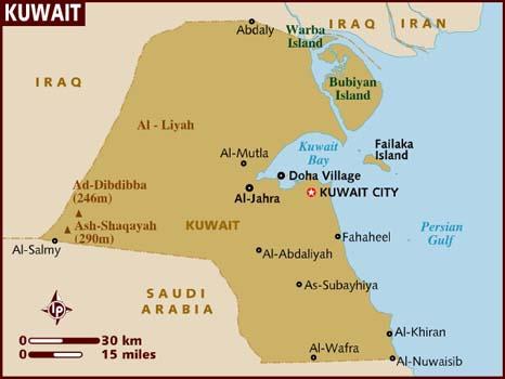 map_of_kuwait